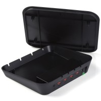 iDsonix®Multi-Device 4port Charging Station With 2x 5V2.1A & 2x 5V1A Charging Port